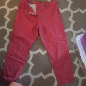 Gap pants, dusty rose color